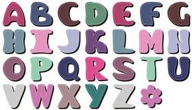 Scrapbook alphabet on white background. Scrapbook lace alphabet on white background illustration royalty free illustration