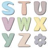 Scrapbook alphabet on white background Stock Photos