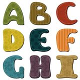 Scrapbook alphabet on white background Royalty Free Stock Photos