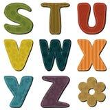 Scrapbook alphabet on white background Stock Image