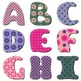 Scrapbook alphabet on white background. Scrapbook lace alphabet on white background illustration stock illustration