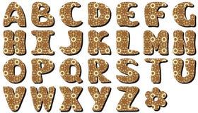Scrapbook alphabet on white background. With lace ornament illustration stock illustration