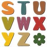 Scrapbook alphabet on white Royalty Free Stock Photo