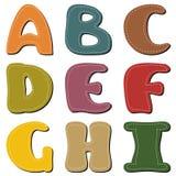 Scrapbook alphabet on white Stock Photography