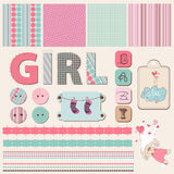 Scrapbook Baby Girl Set Stock Photography