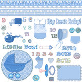 Scrapbook baby shower boy Stock Images