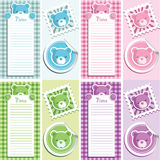 Scrapbook Baby Shower Elements Stock Photography