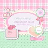 Scrapbook background Stock Photo