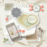 Scrapbook background Royalty Free Stock Images