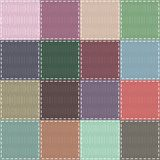 Scrapbook background with different patterns Royalty Free Stock Images