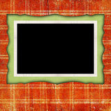 Scrapbook background with frame Stock Photography