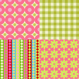 Scrapbook backgrounds. Set of Four Scrapbook Backgrounds Royalty Free Stock Images