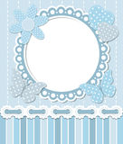 Scrapbook blue frame Royalty Free Stock Photos
