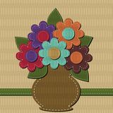 Scrapbook bouquet of flowers Royalty Free Stock Image