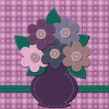 Scrapbook bouquet of flowers Royalty Free Stock Images