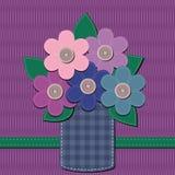 Scrapbook bouquet of flowers Stock Image