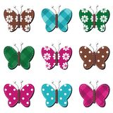 Scrapbook butterflies on white background Royalty Free Stock Photo