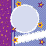 Scrapbook card with stars Stock Photography