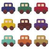Scrapbook cars on white background Stock Photos
