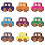 Scrapbook cars on white background illustration Royalty Free Stock Images