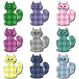 Scrapbook cats on white background Royalty Free Stock Photos