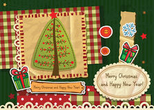 Scrapbook Christmas  card Stock Image