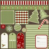 Scrapbook Christmas elements Stock Photo