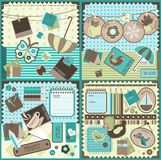 Scrapbook Christmas elements Stock Images