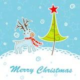 Scrapbook Christmas greeting card Stock Image