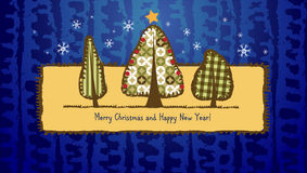 Scrapbook Christmas greeting card. Stock Images