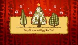 Scrapbook Christmas greeting card. Stock Photos