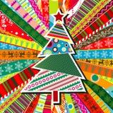Scrapbook christmas patterns stock illustration