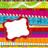 Scrapbook christmas patterns Royalty Free Stock Images