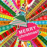 Scrapbook christmas patterns Stock Images