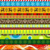 Scrapbook christmas patterns for design Royalty Free Stock Photography