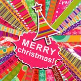 Scrapbook christmas patterns for design Royalty Free Stock Photos