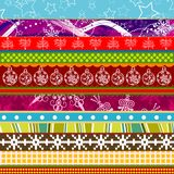 Scrapbook christmas patterns for design Royalty Free Stock Images