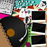 DJ party design Stock Photography