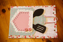 Scrapbook craft in detail for the kitchen Royalty Free Stock Images