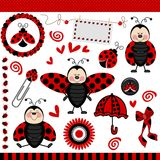 Scrapbook de Digitas do Ladybug Imagem de Stock