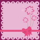 Scrapbook design. Vector decorative pink floral card for scrapbooking Vector Illustration