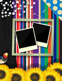 Scrapbook frame Royalty Free Stock Photos