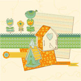 Scrapbook design elements Stock Images