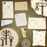Scrapbook design elements Royalty Free Stock Images