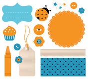 Scrapbook design elements Stock Photo