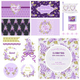Scrapbook Design Elements for Baby Party Royalty Free Stock Images