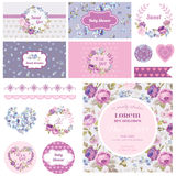 Scrapbook Design Elements stock illustration