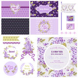 Scrapbook Design Elements for Baby Shower Royalty Free Stock Photos