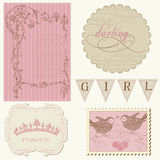 Scrapbook design elements - Beautiful Girl Royalty Free Stock Photography