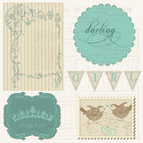 Scrapbook design elements - Beautiful Girl Stock Images